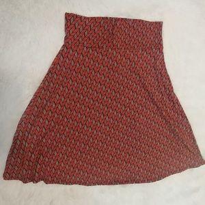 LULAROE Azure Flair Skirt M